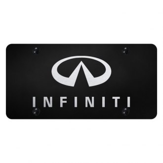 Autogold® - License Plate with Laser Etched Infiniti Logo and Emblem