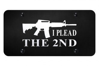 Autogold® - License Plate with Laser Etched I Plead The 2nd Logo