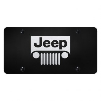 Autogold® - License Plate with Laser Etched Jeep Grill Logo