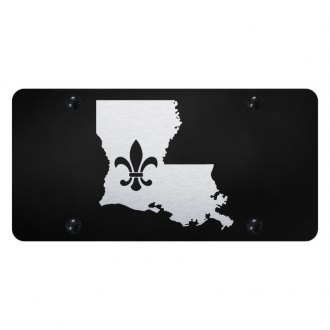 Autogold® - License Plate with Laser Etched Fleur-di-Lis on LA outline Logo