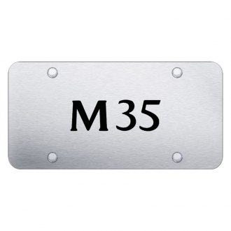 Autogold® - Brushed License Plate with Laser Etched M35 Logo