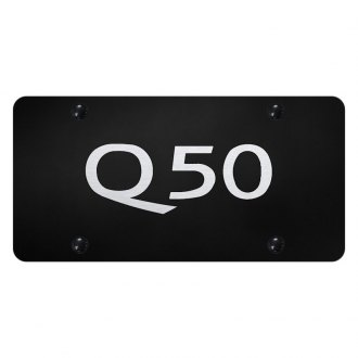 Autogold® - License Plate with Laser Etched Q50 Logo
