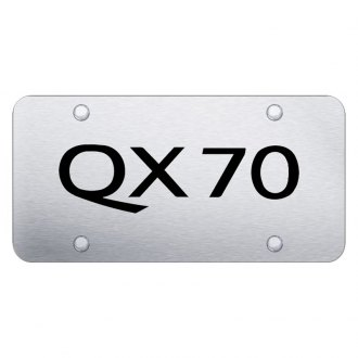 Autogold® - Brushed License Plate with QX70 Logo