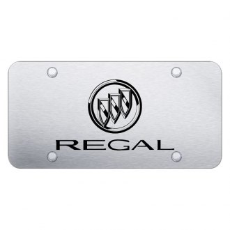 Autogold® - Brushed License Plate with Laser Etched Regal Logo