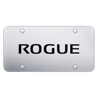 Autogold® - Brushed License Plate with Laser Etched Rogue Logo