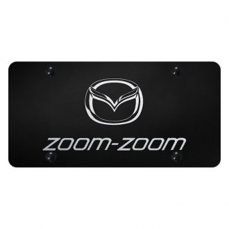 Autogold® - License Plate with Laser Etched Zoom-Zoom Logo