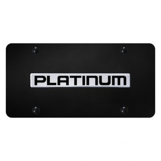 Autogold® - License Plate with 3D Chrome Platinum Logo