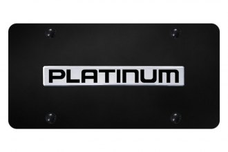 Autogold® - License Plate with 3D Platinum Logo