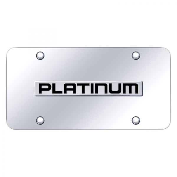 Autogold® - License Plate with Platinum Logo