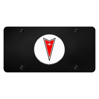 Autogold® - License Plate with 3D Pontiac Emblem