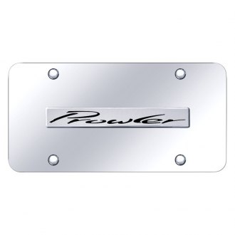 Autogold® - Chrome License Plate with 3D Chrome Prowler Logo
