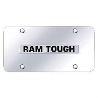 Autogold® - Chrome License Plate with Chrome Ram Tough Logo
