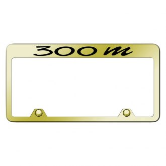 Autogold® - Inverted Gold License Plate Frame with Engraved 300M Logo