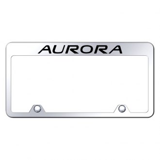 Autogold® - Inverted License Plate Frame with Engraved Aurora Logo