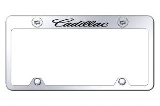 Autogold® - Inverted License Plate Frame with Engraved Cadillac Logo
