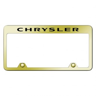 Autogold® - Inverted Gold License Plate Frame with Engraved Chrysler Logo