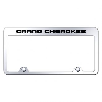Autogold® - Inverted License Plate Frame with Engraved Grand Cherokee Logo