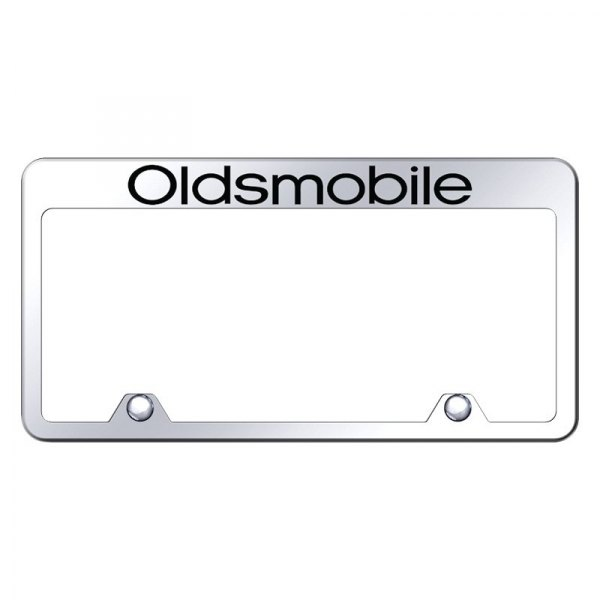 Autogold® - Inverted License Plate Frame with Engraved Oldsmobile Logo