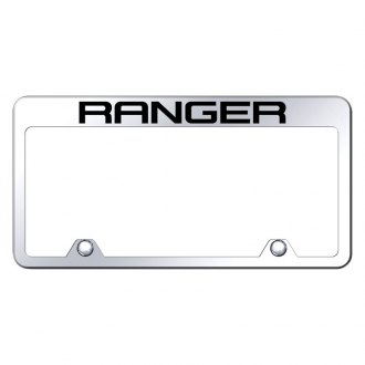Autogold® - Inverted Chrome License Plate Frame with Engraved Ranger Logo