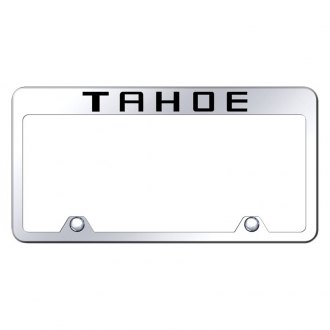 Autogold® - Inverted Chrome License Plate Frame with Engraved Tahoe Logo
