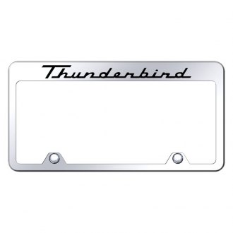 Autogold® - Inverted License Plate Frame with Engraved Thunderbird Logo