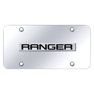 Autogold® - Chrome License Plate with Ranger Logo