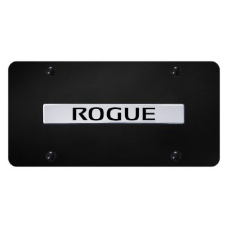 Autogold® - License Plate with Chrome Rogue Logo