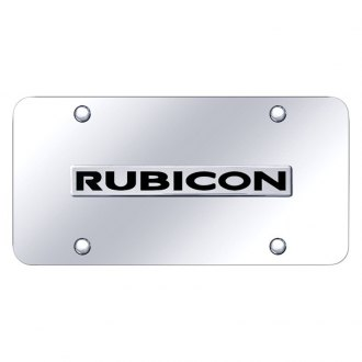 Autogold® - Chrome License Plate with Chrome Rubicon Logo