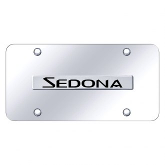 Autogold® - Chrome License Plate with 3D Chrome Sedona Logo
