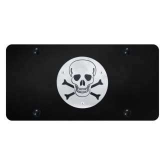 Autogold® - License Plate with 3D Skull Logo