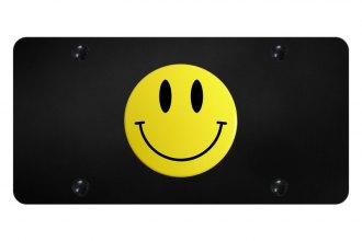 Autogold® - License Plate with 3D Smiley Logo