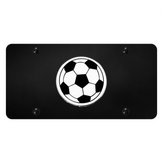 Autogold® - License Plate with 3D Soccer Ball Logo