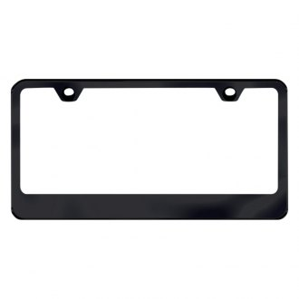 Autogold® - Thin Wide Bottom Black License Plate Frame