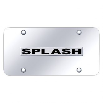 Autogold® - Chrome License Plate with 3D Splash Logo
