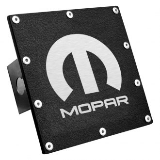 "Autogold® - Black Hitch Cover with Mopar Logo for 2"" Receivers"