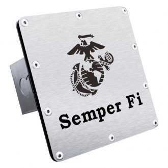 "Autogold® - Hitch Cover with Semper Fi Logo for 2"" Receivers"