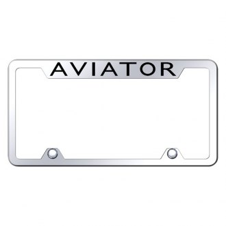 Autogold® - Truck Chrome License Plate Frame with Laser Etched Aviator Logo