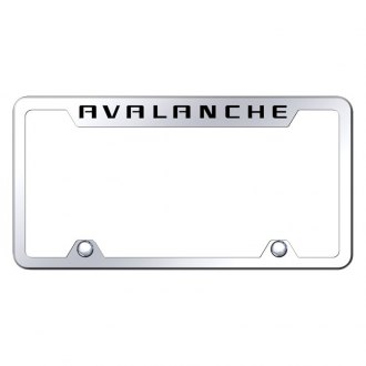 Autogold® - Truck License Plate Frame with Laser Etched Avalanche Logo
