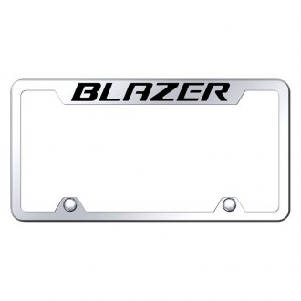 Autogold® - Truck Chrome License Plate Frame with Laser Etched Blazer Logo