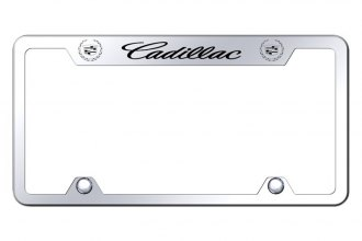Autogold® - Truck License Plate Frame with Laser Etched Cadillac Logo