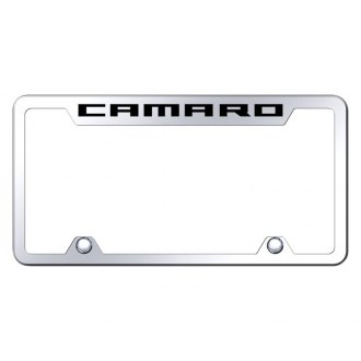 Autogold® - Truck Chrome License Plate Frame with Laser Etched Camaro Logo