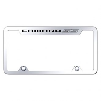 Autogold® - Truck Chrome License Plate Frame with Laser Etched Camaro SS Logo