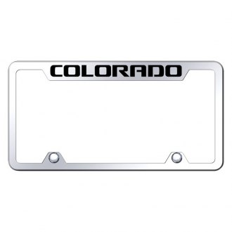 Autogold® - Truck Chrome License Plate Frame with Laser Etched Colorado Logo