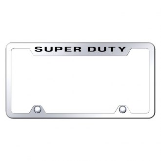 Autogold® - Truck Chrome License Plate Frame with Laser Etched Super Duty Logo