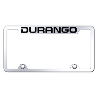 Autogold® - Truck Chrome License Plate Frame with Laser Etched Durango Logo