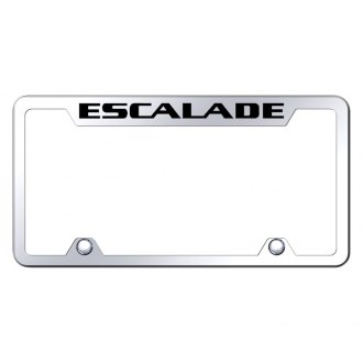 Autogold® - Truck Chrome License Plate Frame with Laser Etched Escalade Logo