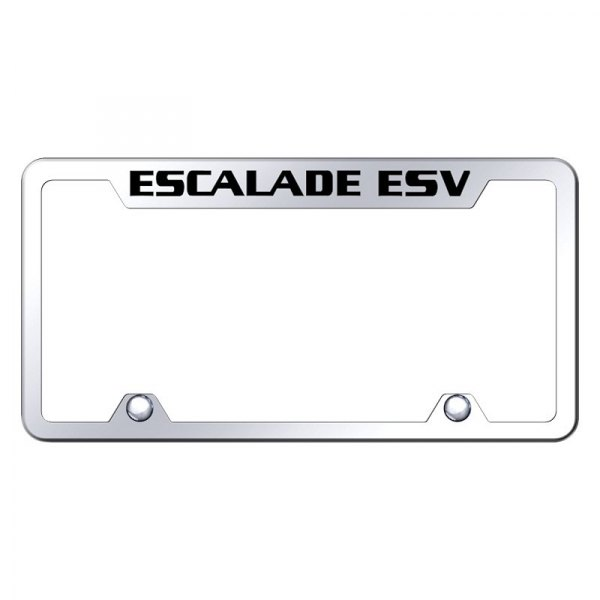 Autogold® - Truck License Plate Frame with Laser Etched Escalade ESV Logo