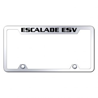 Autogold® - Truck Chrome License Plate Frame with Laser Etched Escalade ESV Logo