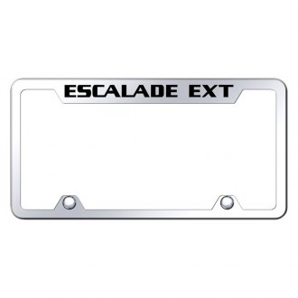 Autogold® - Truck Chrome License Plate Frame with Laser Etched Escalade EXT Logo