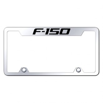 Autogold® - Truck Chrome License Plate Frame with Laser Etched F-150 Logo